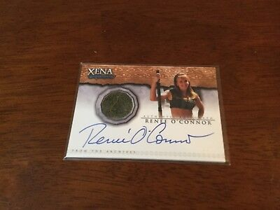 Xena Warrior Princess Renee O'Connor Autograph And Worn Material Card