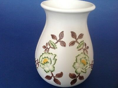 Vintage E. Radford Pottery Hand Painted Vase decorated with Embosed Flowers
