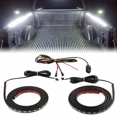 "2x 60"" LED WORK LIGHT BAR STRIP TRUCK BED CARGO VAN FOR CHEVY FORD DODGE TOYOTA"