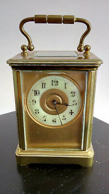 19th Century French Semi-Miniature Travelling Carriage Clock - 8 day movement