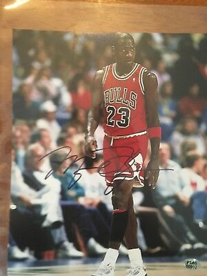 fec6ff4249e Michael Jordan Chicago Bulls Autographed Hand Signed Basketball 8x10 Photo  W/COA