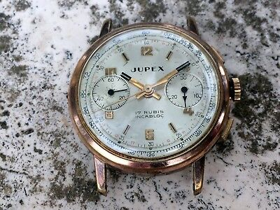 Rare Vintage  Jupex Chronograph  Swiss Made Spares Parts Restore
