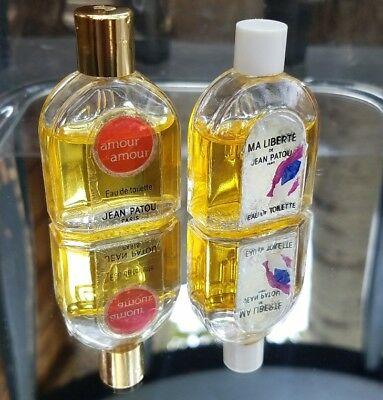 Lot Of 2 Pre-owned Vintage Perfumes By Jean Patou Ma Liberte & Amour Amour Mini