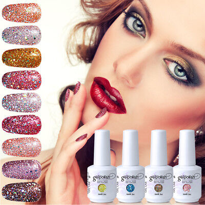 GEL LAB Diamond Glitter Gel Polish Top Base Manicure Varnish Lacquer