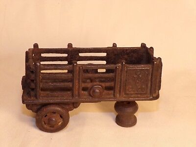 1920s Antique A C Williams Coast To Coast Stake Truck Trailer Only Cast Iron Toy
