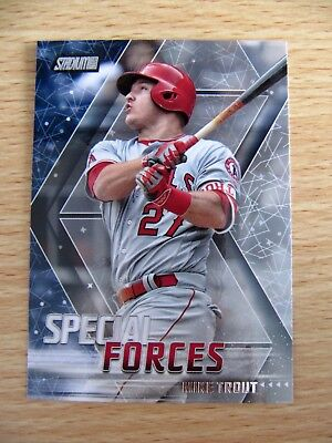 2018 Topps Stadium Club Mike Trout Special Forces card SF-MT Angels