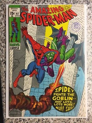 "AMAZING SPIDER-MAN 97, GREEN GOBLIN Appearance ""Classic Drug Issue"" MARVEL 1971"