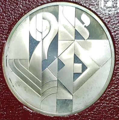 Israel, 1986 2 New Sheqalim Toned Proof w/case, Art in Israel, .787 Ounce Silver