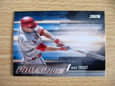 2018 Topps Stadium Club baseball Mike Trout Power Zone #PZ-MT card Angels