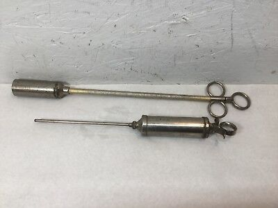 Vintage Metal Veterinary Syringe & Pill Pusher Veterinary Medical