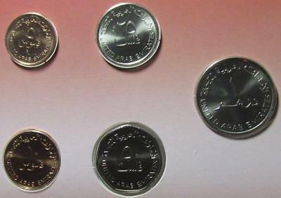 United Arab Emirates 2001-2007 5-Piece Brilliant Uncirculated Set
