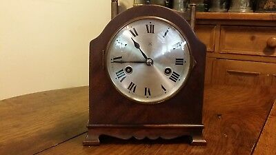 Antique Mantel Clock German Hac Hamburg American Co. 8 Day Striking Good Working