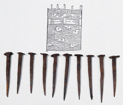 Hand Forged Nails Antique