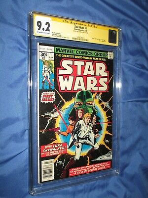 STAR WARS #1 CGC 9.2 SS Signed by Stan Lee  ~Movie Adaption 1977