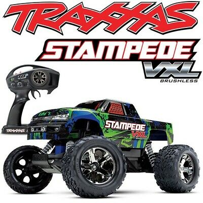 New Traas 36076 4 Stampede Vxl Brushless Green 2wd Electric Rc Truck Tsm Tqi