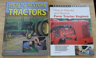 HOW TO RESTORE CLASSIC TRACTORS AND ENGINES two books on tractor restoration