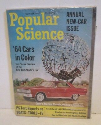 Popular Science Annual New Car Issue 1964 World's Fair  New York  Nywf Magazine