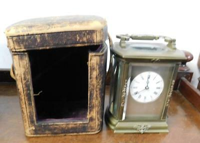 large french striking carriage clock with case for restore