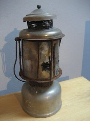 Vintage Coleman Quicklite Camping Lantern With Mica Globe For Parts Or Repair