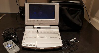 Wharfedale Portable DVD Video Player With Case And Wires