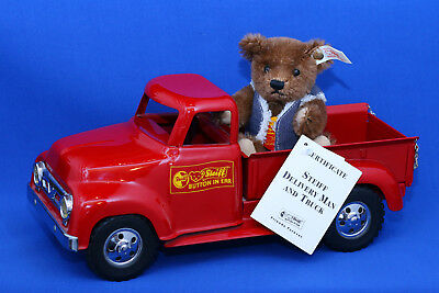 Steiff Teddy USA  DELIVERY MAN AND TRUCK   nur USA  -- TOP