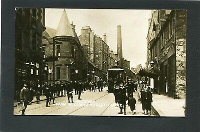 Dundee - Animated Scene Hilltown (from N George Street) RP c1910