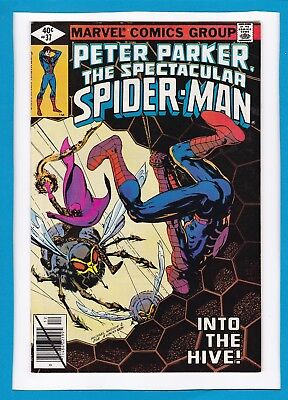 Peter Parker, The Spectacular Spider-Man #37_December 1979_Very Fine+_Swarm!