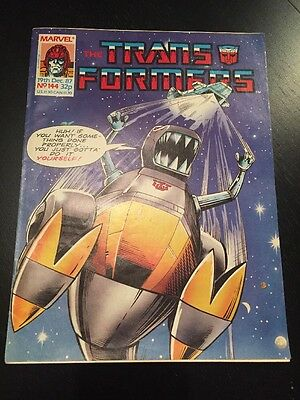 Marvel UK Transformers G1 Issue Number 144 December 1987
