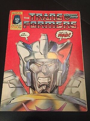 Marvel UK Transformers G1 Issue Number 101 February 1987