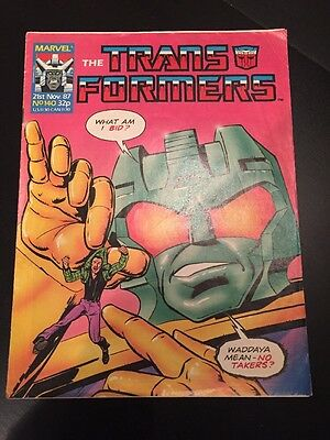 Marvel UK Transformers G1 Issue Number 140 November 1987
