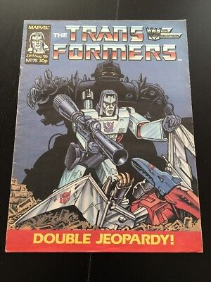 Marvel UK Transformers G1 Issue Number 75 August 1986