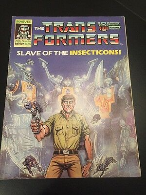 Marvel UK Transformers G1 Issue Number 89 November 1986