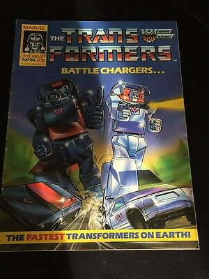 Marvel UK Transformers G1 Issue Number 94 January 1987