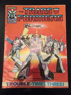 Marvel UK Transformers G1 Issue Number 123 July 1987