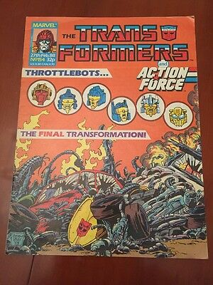 Marvel UK Transformers G1 Issue Number 154 February 1988