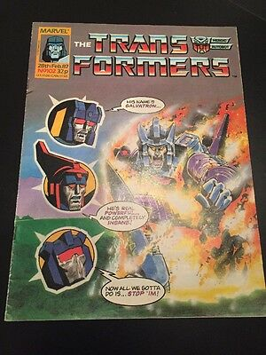 Marvel UK Transformers G1 Issue Number 102 February 1987