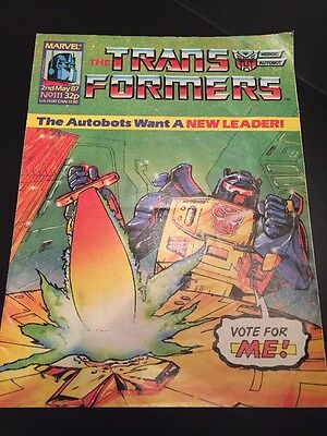 Marvel UK Transformers G1 Issue Number 111 May 1987