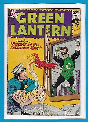 "Green Lantern #23_Sept 1963_Ungraded_""threat Of The Tattooed Man""_Silver Age Dc!"