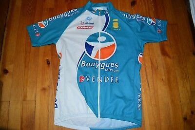 Bouygues Telecom Nalini Cuissard Maillot Velo Cycliste Cycling Jersey Vintage