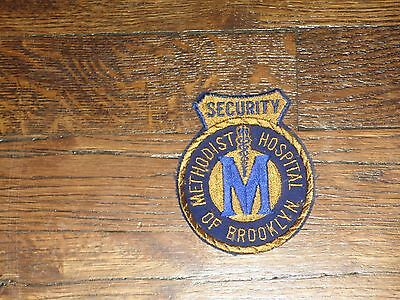 methodist hospital of brooklyn ,ny, security patch, new old stock 1960's,