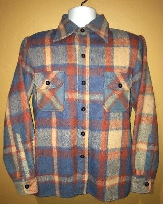 Rocky Mountain Mens Red Blue White Plaid Button Front Flannel Shirt Size S