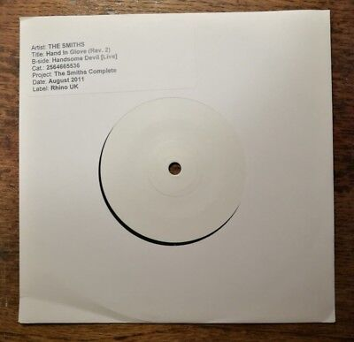 The Smiths - Hand In Glove White Label Test Pressing 2011
