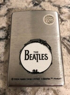 Zippo Lighter Brushed Chrome Finish Bass Drum The Beatles - 2004