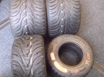 go kart  komet k1w  set of wet tyres good tread iame x30 f100/retro racer FA