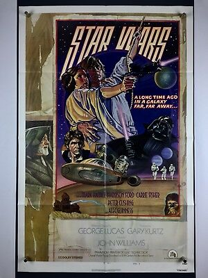 STAR WARS Style D Movie Poster (VeryFine) One Sheet 1977 Sci-Fi George Lucas