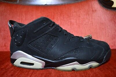 2564e063730d Nike Air Jordan 6 VI Retro Low Chrome Black Silver 304401-003 Mens Size 12