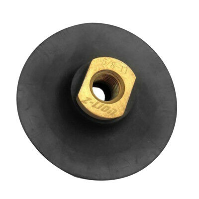 "4""/100mm Rubber Backer Pad 5/8-11 for Diamond Polishing Pads Stone Concrete"