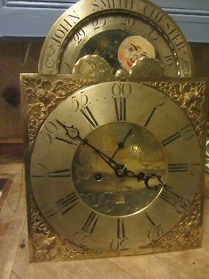 Brass 8 Day.dial& Movement Byjohn Smith Chester 13 X 19 For Restoration