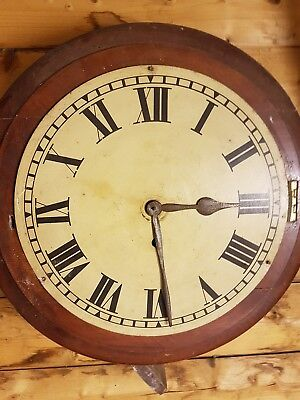 Antique Newhaven Railway Clock Perfect Working Order Spares Or Repairs