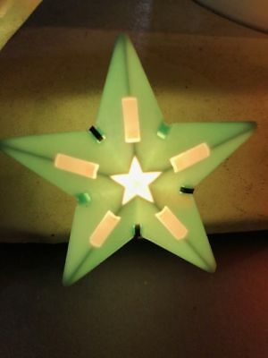 1950 Vintage C-6 Plastic Green Paramount C-6 Christmas Star Light Bulb Working